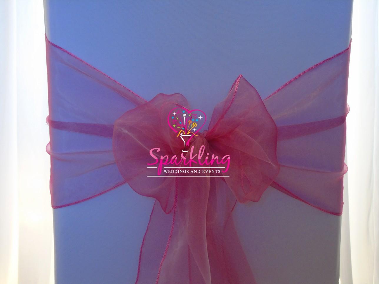 Pink Organza Sash Dusky
